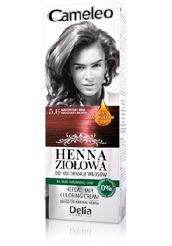 Delia - Cameleo Herbal Henna - Herbal hair coloring cream 5.6 MAHOGANY  BROWN 75g 5901350449189