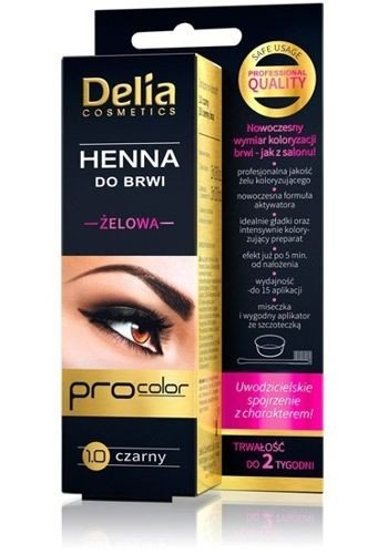 Delia Gel Henna For Eyebrow 1 0 Black 5901350441978 For Her