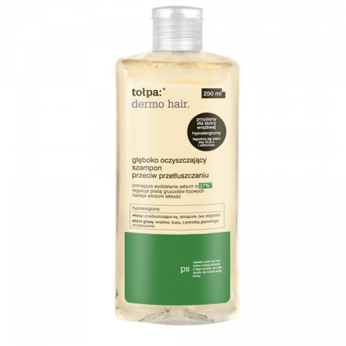 Tołpa - Dermo Hair - SHAMPOO deep cleansing without SLS against oily hair  for oily hair 250ml 5907608616839