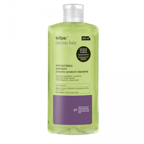 Tolpa Dermo Hair Shampoo Strengthening Against Signs Of Aging Without Sls For Weakened Hair 250ml 5907608616853