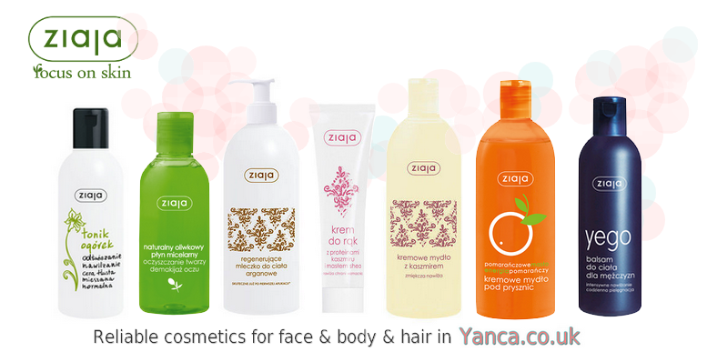 Ziaja - reliable polish cosmetics for face & body & hair in yanca.co.uk