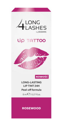 f01cc7bea5f Long 4 Lashes LIP TATTOO - Long Lasting Lip Tint 24h - Lip gel ROSEWOOD 8ml  ...