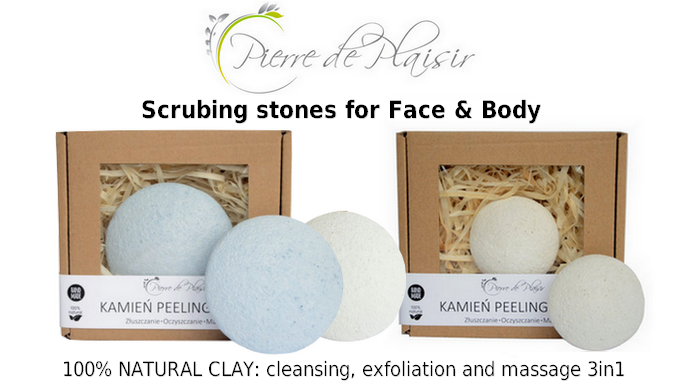 Pierre de Plaisir - scrubing stones fo face & body in yanca.co.uk!