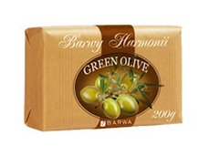 Barwa - Barwa Harmony - GREEN OLIVE soap with shea butter and vitamin E 190g 5902305002602