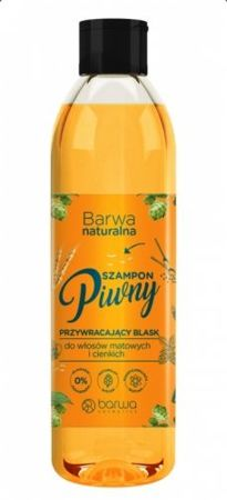 Barwa - Natural - Gloss shine BEER SHAPOO with vitamin complex for dry, damaged hair 300ml 5902305000080