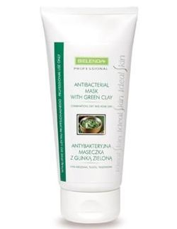 Bielenda Professional - Antibacterial MASK with green clay for mixed complexion, oily, acne skin 150g 5904879004976