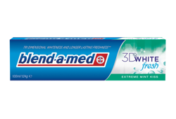 Blend a med - 3D White Fresh - EXTREME MINT KISS - TOOTHPASTE three-dimensional whitening 100ml 4015600620004