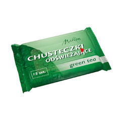 Marion - Refreshing wipes GREEN TEA 15 pieces 5902853010609