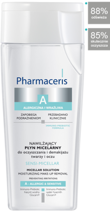 Pharmaceris A - SENSI-MICELLAR - Moisturizing MICELLAR SOLUTION for face and eye cleansing and make-up removal 200 ml 5900717164918