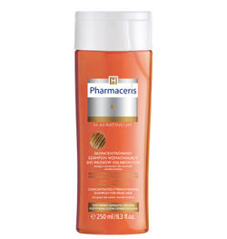 Pharmaceris H - H-KERATINEUM - CONCENTRATED STRENGTHENING SHAMPOO for weak hair prone to falling out, for normal and oily hair 250ml 5900717157217