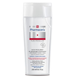 Pharmaceris N - PURI-MICELLAR - MICELLAR SOLUTION cleansing make-up removal 200 ml 5900717015012