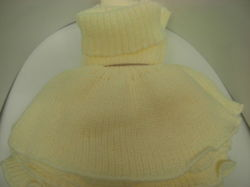 TURTLENECK SCARF for winter for kids and adults (3+ years old) LIGHT YELLOW