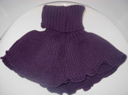 TURTLENECK SCARF for winter for kids and adults (3+ years old) PURPLE