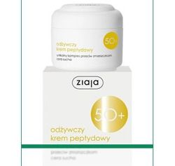 Ziaja - Cleanser 50+ - Nourishing greasy NIGHT CREAM peptide for dry skin 50ml 5901887020066
