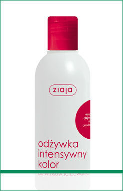 Ziaja - Intensive Hair Care - CONDITIONER - Intense color with heliogenol castor oil, aloe PROVIT. B5 for dyed hair 200ml 5901887003656