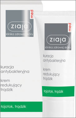 Ziaja Med - Antibacterial Treatment - CREAM reducing acne 50ml 5901887008637
