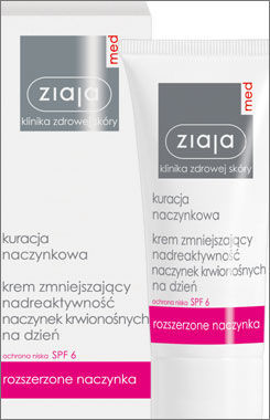 Ziaja Med - Capillaries Treatment - Reducing overactivity blood vessels DAY CREAM SPF6 50ml 5901887008514