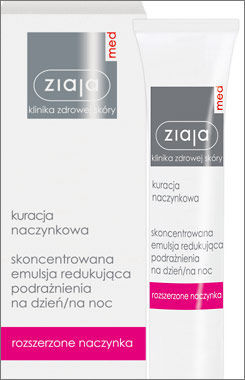 Ziaja Med - Treatment Capillaries - Concentrated EMULSION reducing irritation DAY / NIGHT 30ml 5901887008545