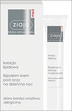Ziaja Med - Treatment of Lipids 25+ - Fizjoderm DAY / NIGHT EYE CREAM for sensitive, allergic and dry skin 15ml 5901887016854