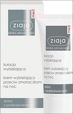 Ziaja Med - Whitening Treatment - Whitening anti-wrinkle NIGHT CREAM 50ml 5901887020547