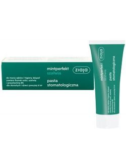 Ziaja - Mintperfekt - Sage TOOTHPASTE with fluoride and provitamin B5 75ml 5901887033936