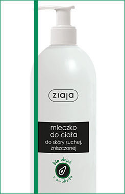 Ziaja - Natural Avocado Oil - Regenerating body LOTION for dry and dull skin 400 ml 5901887023265