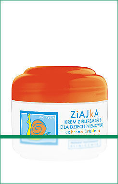 Ziaja - Ziajka - Sunblock SPF6 for children and infants from the first days of life PROTECTIVE (SNAIL) 50ml 5901887001362